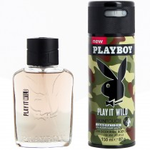 Playboy - Coffret Homme Déodorant Spray 150ml + Eau de Toilette 60ml PLAY IT WILD